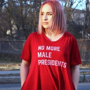 No More Male Presidents pocket dress new boutique